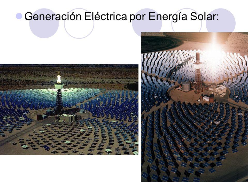 Generación Eléctrica por Energía Solar: