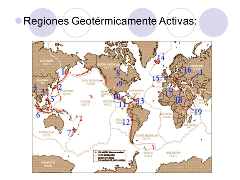 Regiones Geotérmicamente Activas: