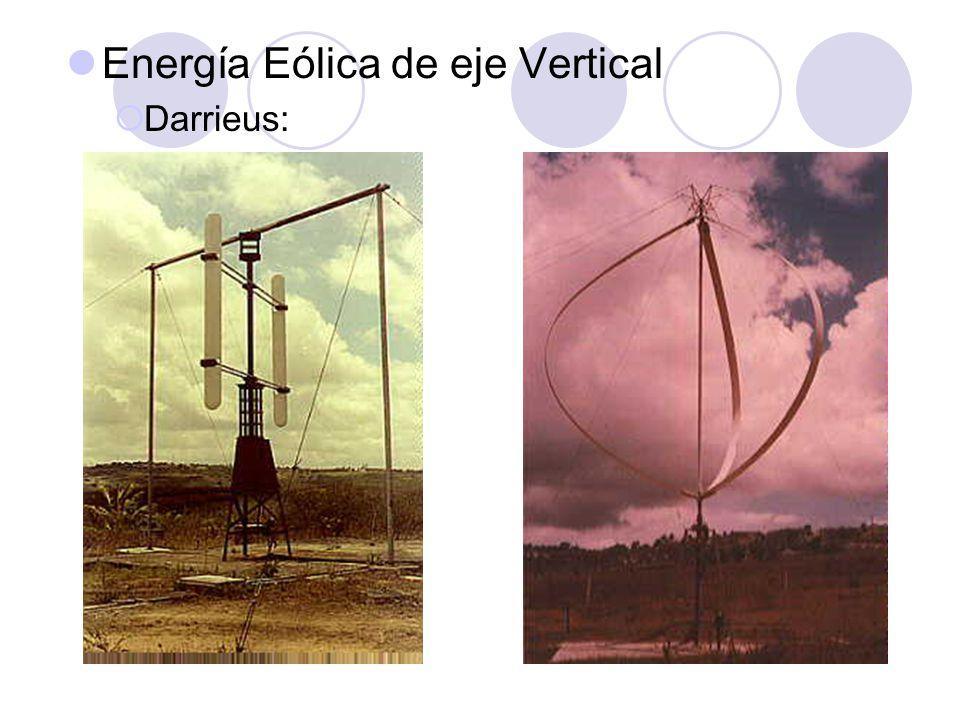 Energía Eólica de eje Vertical Darrieus: