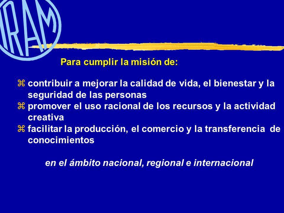 Brinda servicios de: NORMALIZACIÓN NORMALIZACIÓN CERTIFICACIÓN DE SISTEMAS Y PRODUCTOS CERTIFICACIÓN DE SISTEMAS Y PRODUCTOS CAPACITACIÓN CAPACITACIÓN DOCUMENTACIÓN DOCUMENTACIÓN Más de 7700 Normas Más de 1700 Certificados Más de 1700 Certificados Más de 20000 participantes 180.000 Documentos Técnicos