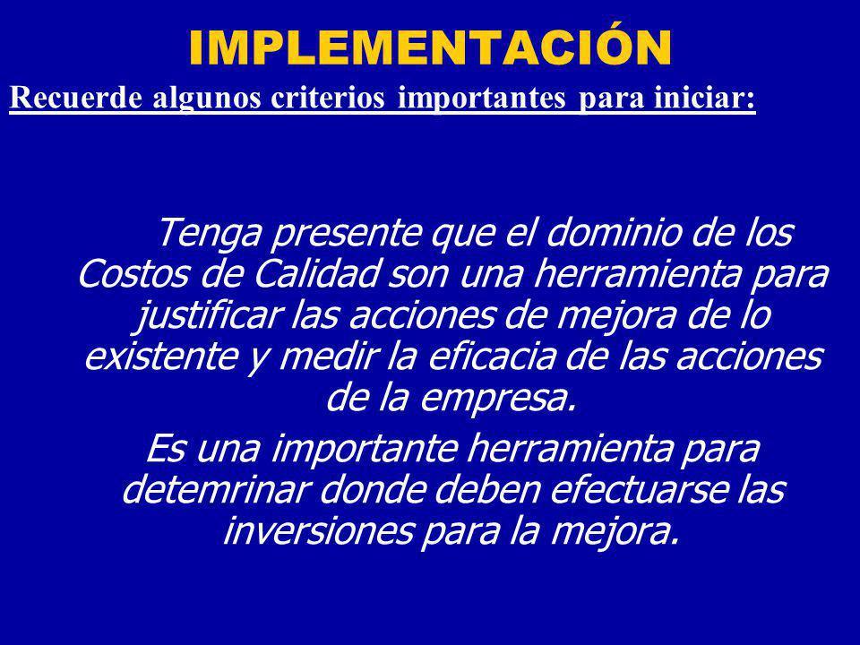 IMPLEMENTACIÓN PRIMERA ETAPA: El convencimiento de la dirección que este programa es necesario.