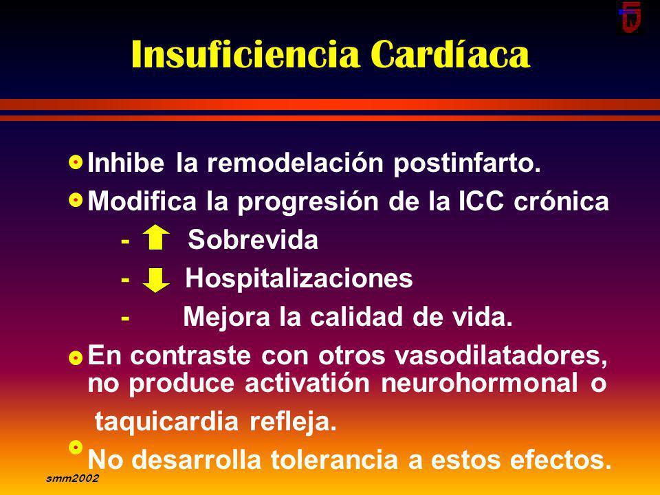 smm2002 Venous Vasodilatation MIXTOS Antagonistas cálcicos Bloqueantes -adrenergicos IECA Inhibidores Angiotensina II Nitroprusiato VENOSOS Nitratos M
