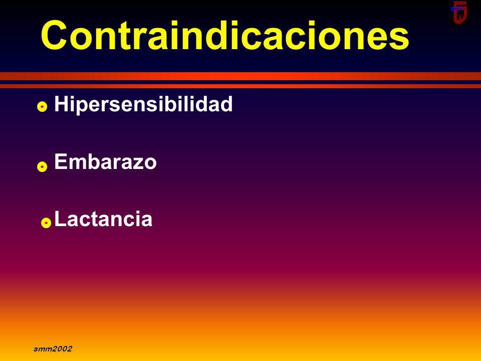 smm2002 Indicaciones Insuficiencia cardíaca En ptes que no toleran IECA Combinación IECA +Bloq AT1 disminuye hospitalizaciones y calidad de vida Hiper