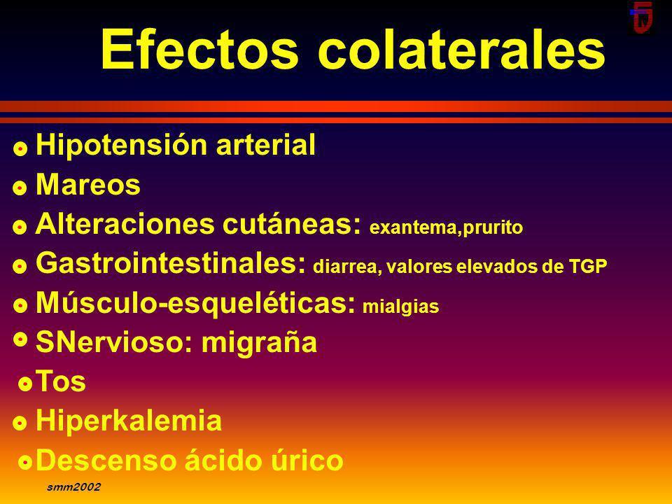 smm2002 Contraindicaciones Hipersensibilidad Embarazo Lactancia