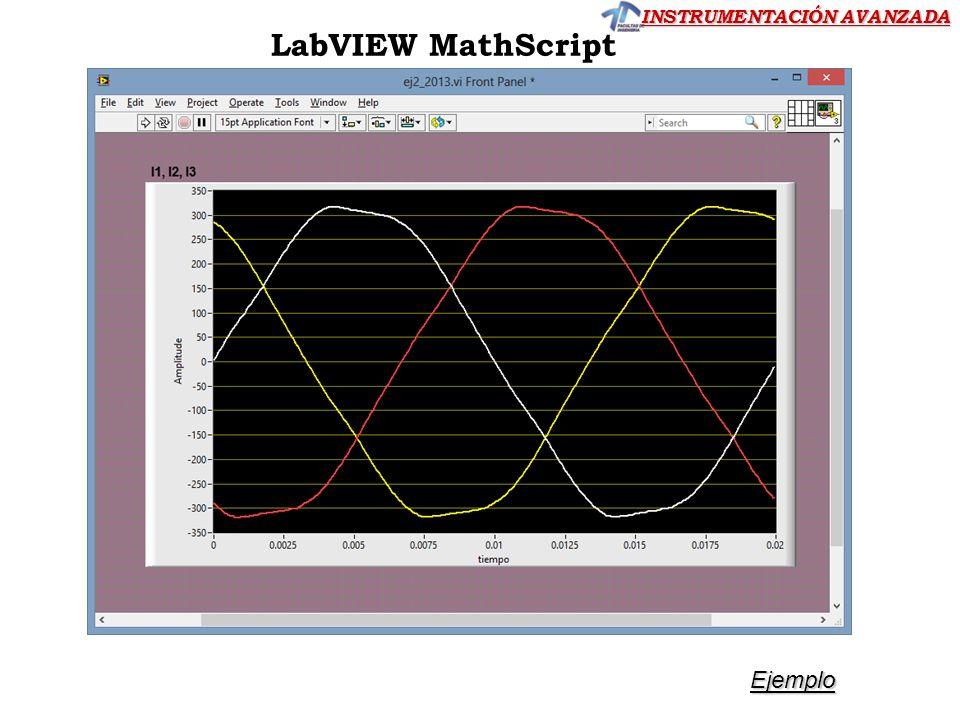 INSTRUMENTACIÓN AVANZADA LabVIEW MathScript Ejemplo