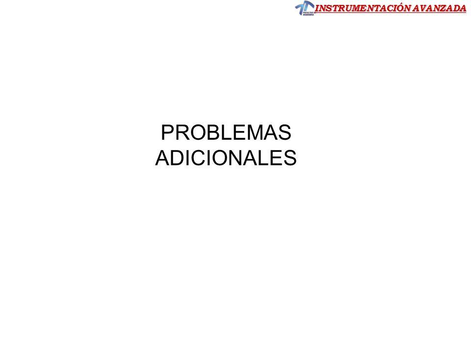 INSTRUMENTACIÓN AVANZADA PROBLEMAS ADICIONALES