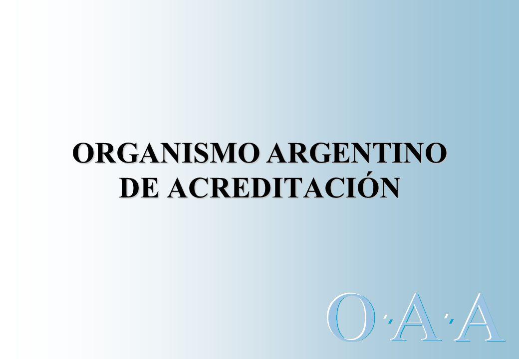 OAA Su creación por el Decreto Nº 1474/94 tiene por objetivo ofrecer las herramientas y crear los organismos que conformen la infraestructura de la calidad.