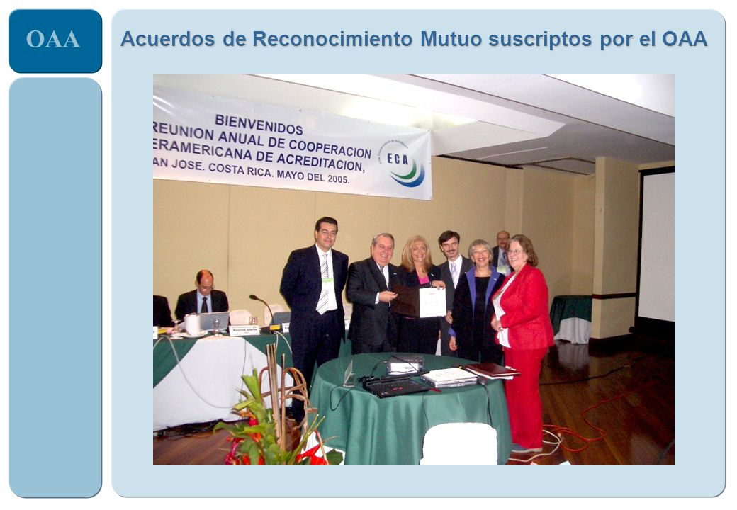 OAA Acuerdos de Reconocimiento Mutuo suscriptos por el OAA