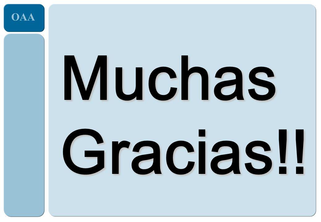 OAA Muchas Gracias!!