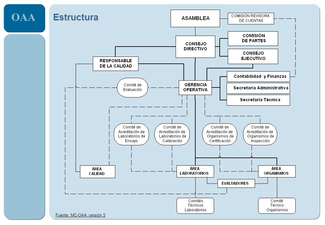 OAA Estructura Fuente: MC-OAA versión 5