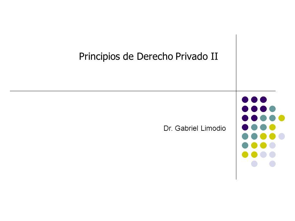 Principios de Derecho Privado II Dr. Gabriel Limodio