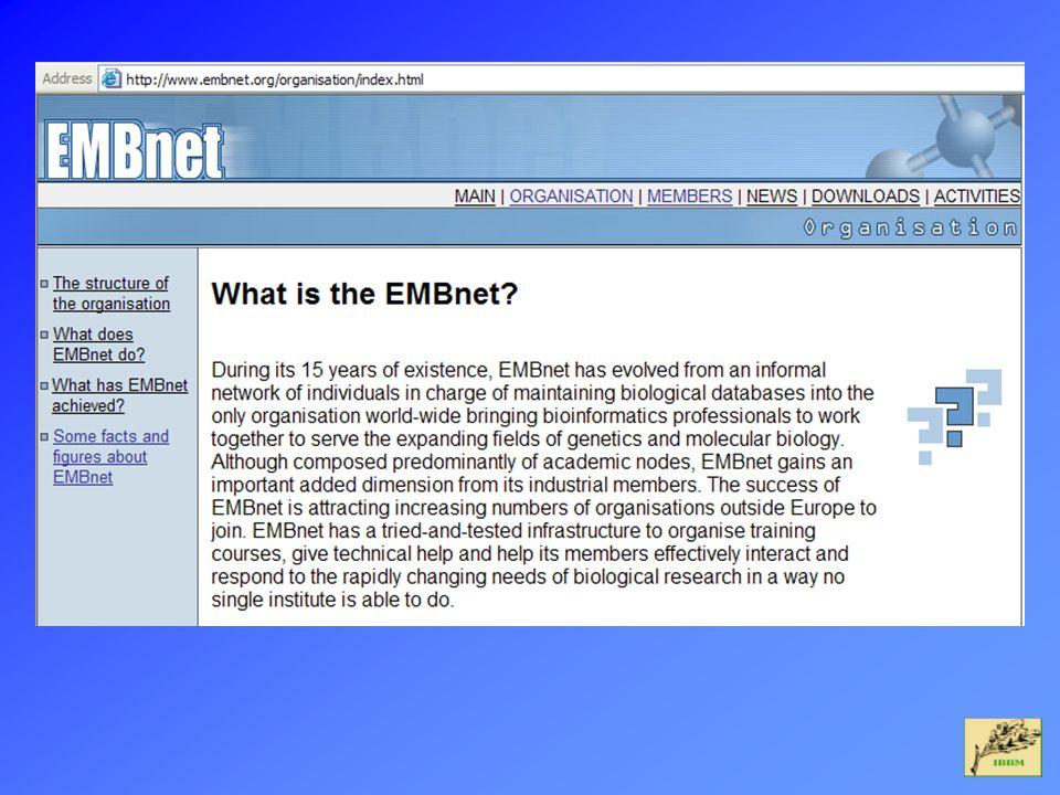 EMBOSS Direcciones importantes ableasby@hgmp.mrc.ac.uk Alan Bleasby, Coordinador del proyecto EMBOSS emboss@embnet.org Discusión en general sobre EMBOSS emboss-bug@embnet.org EMBOSS Support Team emboss-dev@embnet.org Desarrolladores de EMBOSS