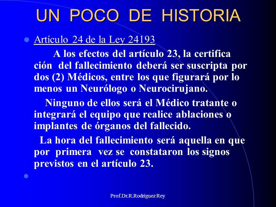 Prof.Dr.R.Rodriguez Rey EL CONCEPTO DE MUERTE