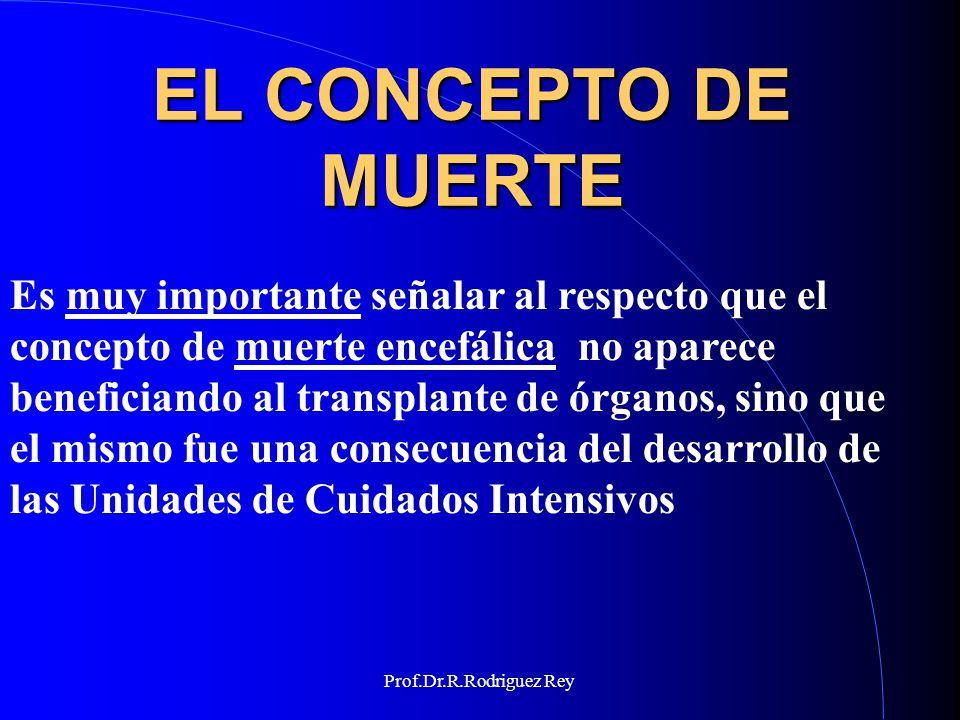 Prof.Dr.R.Rodriguez Rey La muerte es un hecho, puede ser un acto y con gran frecuencia da lugar a un evento 1.