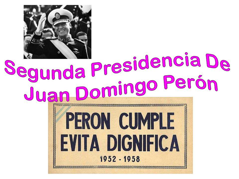 Segundo gobierno (1952–1955) Los Perón el 4 de junio de 1952 durante su segunda Asunción.