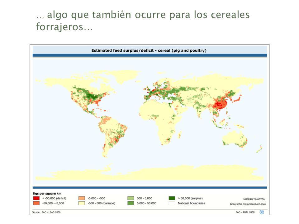 … algo que también ocurre para los cereales forrajeros…