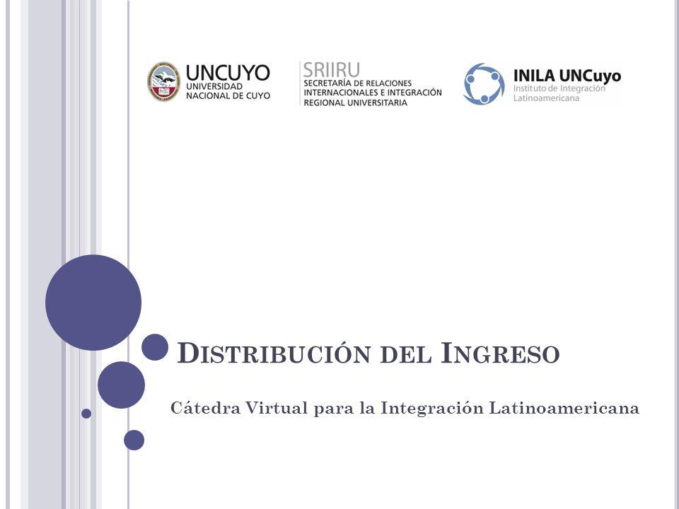 D ISTRIBUCIÓN DEL I NGRESO Cátedra Virtual para la Integración Latinoamericana
