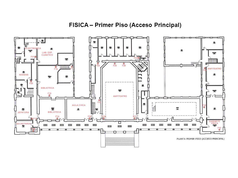 FISICA – Primer Piso (Acceso Principal)