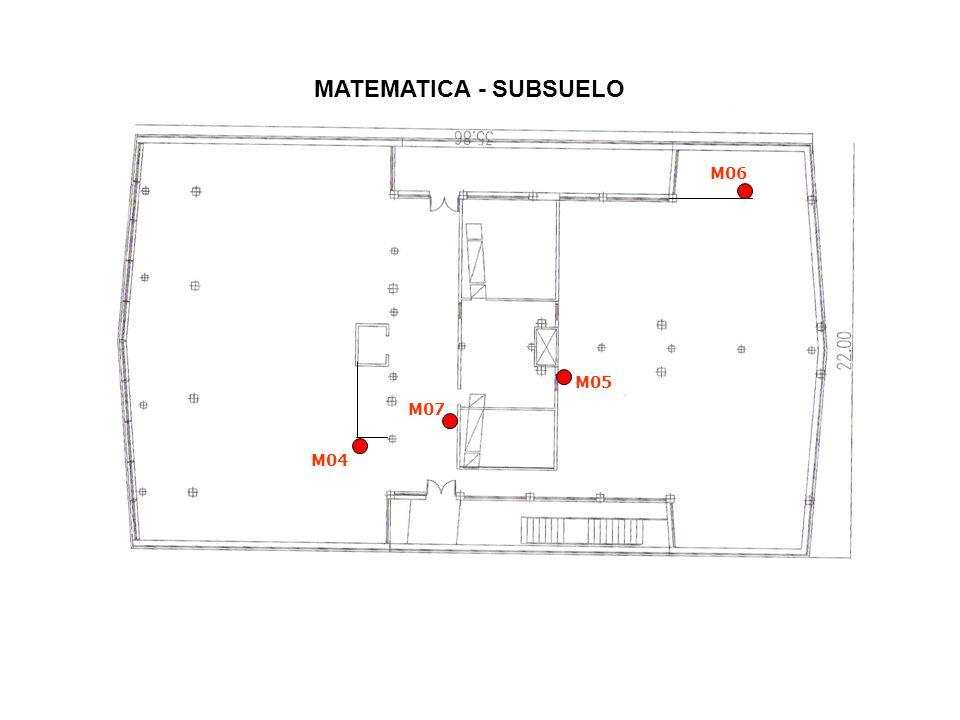 MATEMATICA - SUBSUELO M05 M04 M07 M06
