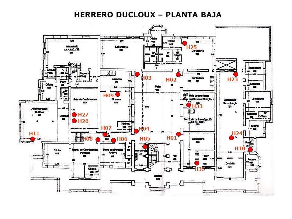 HERRERO DUCLOUX – PLANTA BAJA H01 H02 H03 H04 H05 H06 H07 H09 H10 H11 H23 H24 H25 H26 H27 H08 H33 H35