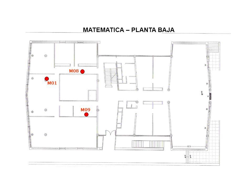 MATEMATICA – PLANTA BAJA M01 M09 M08