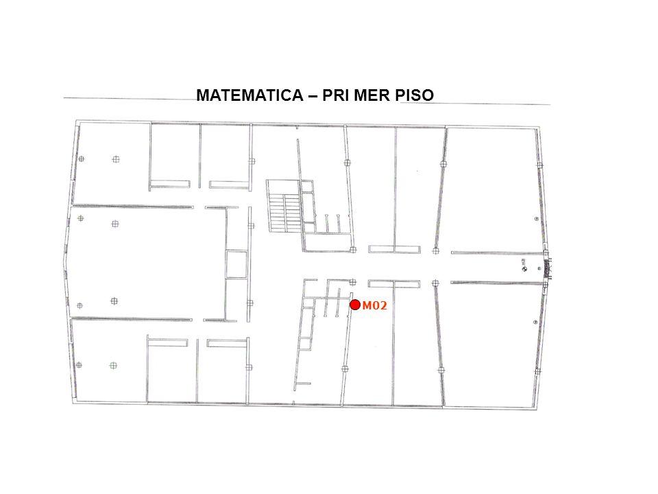 MATEMATICA – PRI MER PISO M02