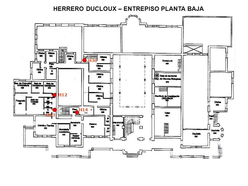 HERRERO DUCLOUX – ENTREPISO PLANTA BAJA H12 H13 H14 H36