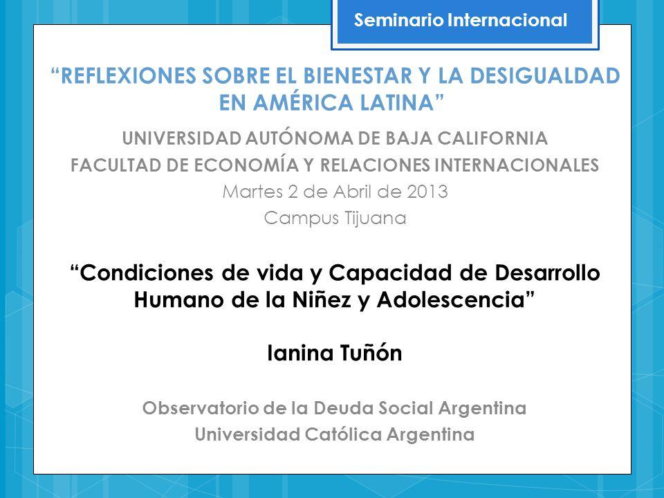 En la primera década del s.XXI la Argentina experimentó un sostenido crecimiento económico, logró mayor inclusión en el mundo del trabajo, mejoró las oportunidades de consumo de los hogares, al tiempo que se ampliaron los derechos sociales y en particular los de la infancia.