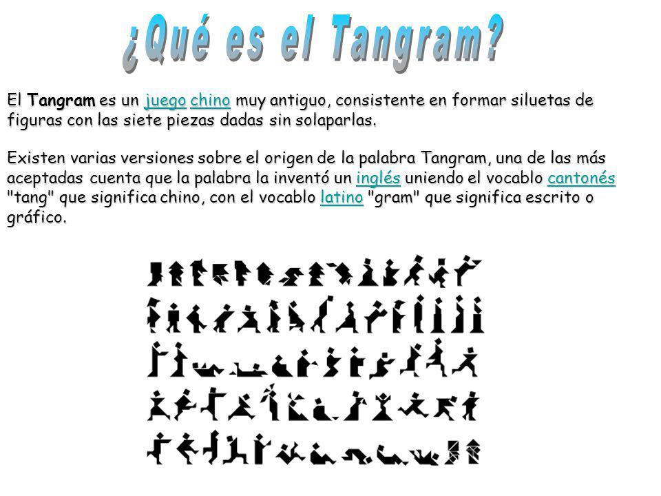 El Tangram es un j j j j j uuuu eeee gggg oooo c c c c c hhhh iiii nnnn oooo muy antiguo, consistente en formar siluetas de figuras con las siete piez