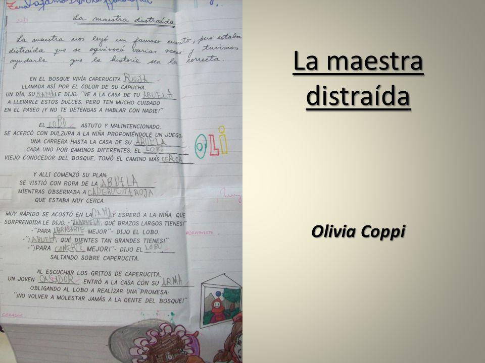 La maestra distraída Olivia Coppi
