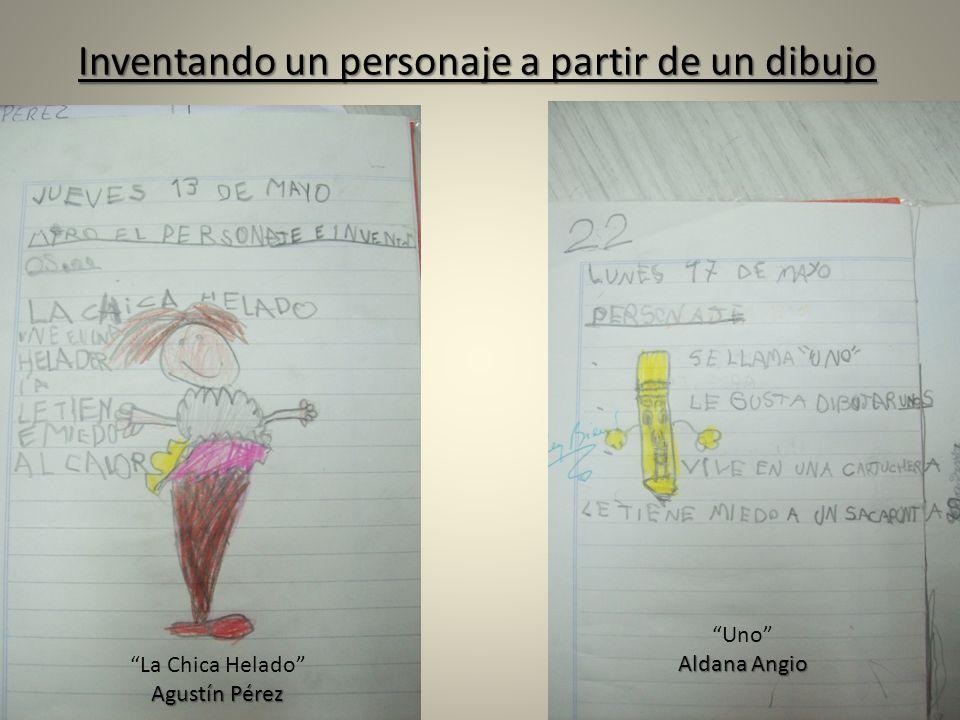 Inventando un personaje a partir de un dibujo La Chica Helado Agustín Pérez Uno Aldana Angio