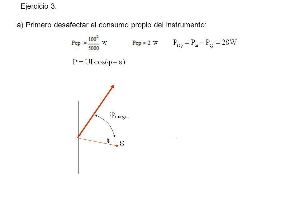 a) Primero desafectar el consumo propio del instrumento: Ejercicio 3.