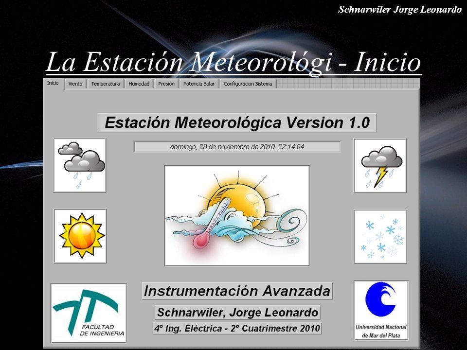 Schnarwiler Jorge Leonardo La Estación Meteorológi - Inicio