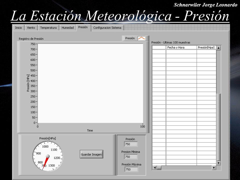 Schnarwiler Jorge Leonardo La Estación Meteorológica - Presión
