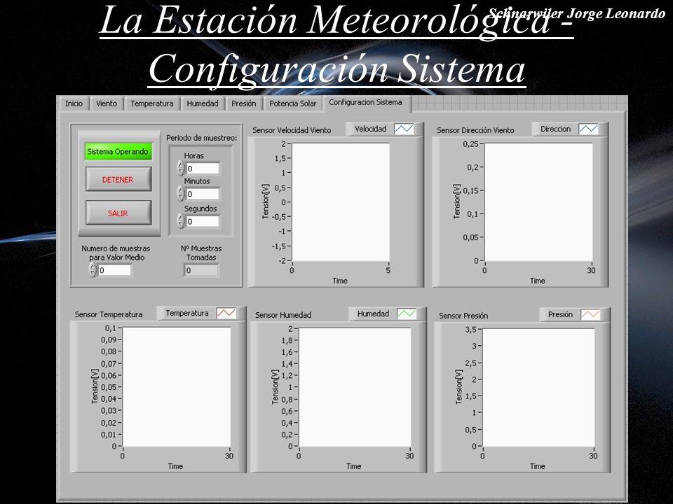 Schnarwiler Jorge Leonardo La Estación Meteorológica - Configuración Sistema