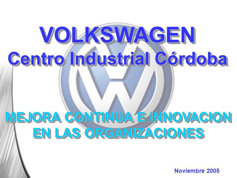 Noviembre 2005 VOLKSWAGEN Centro Industrial Córdoba MEJORA CONTINUA E INNOVACION EN LAS ORGANIZACIONES