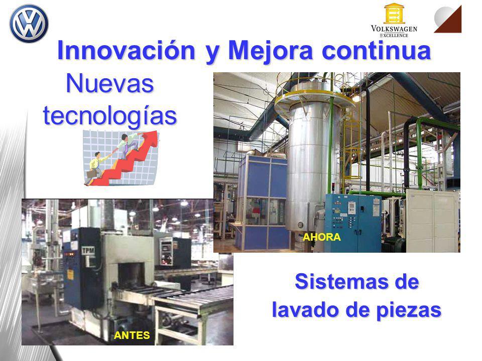 Nuevas tecnologías Sistemas de lavado de piezas ANTES AHORA Innovación y Mejora continua