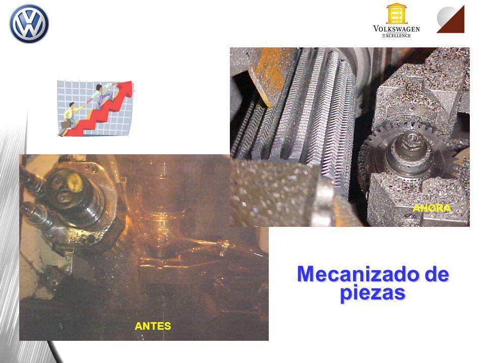 Mecanizado de piezas ANTES AHORA