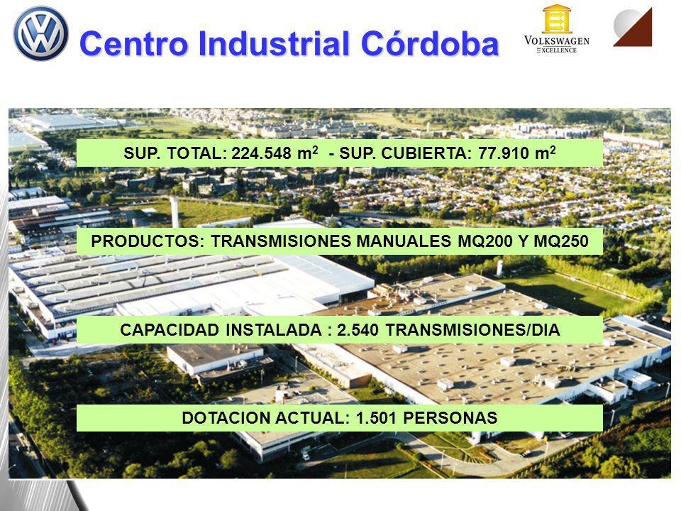Centro Industrial Córdoba PRODUCTOS: TRANSMISIONES MANUALES MQ200 Y MQ250 SUP. TOTAL: 224.548 m 2 - SUP. CUBIERTA: 77.910 m 2 CAPACIDAD INSTALADA : 2.