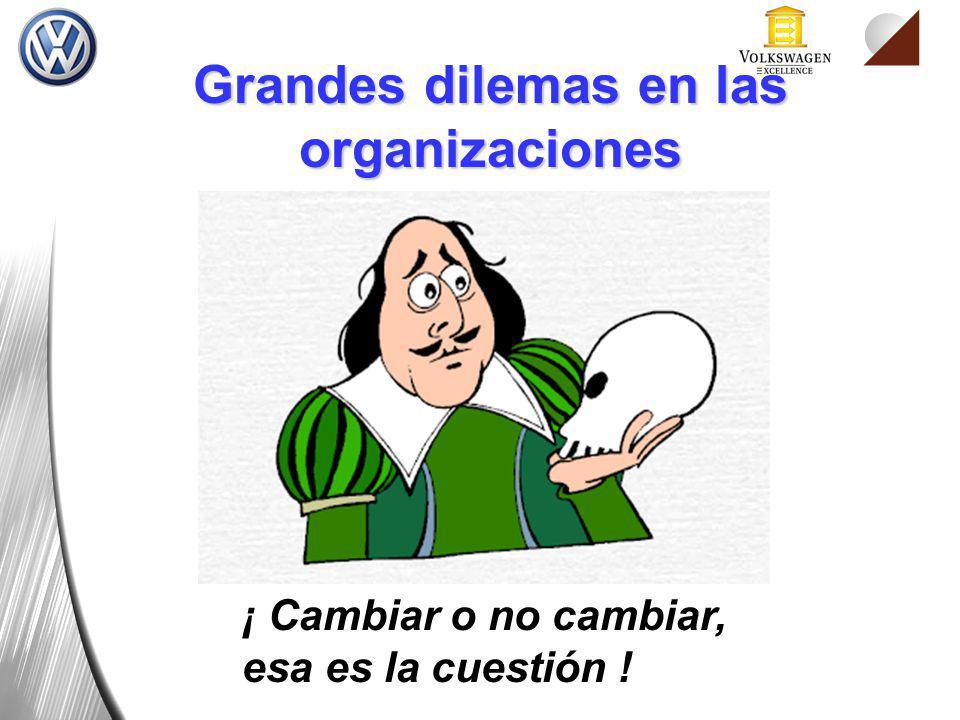 Grandes dilemas en las organizaciones ¡ Cambiar o no cambiar, esa es la cuestión !