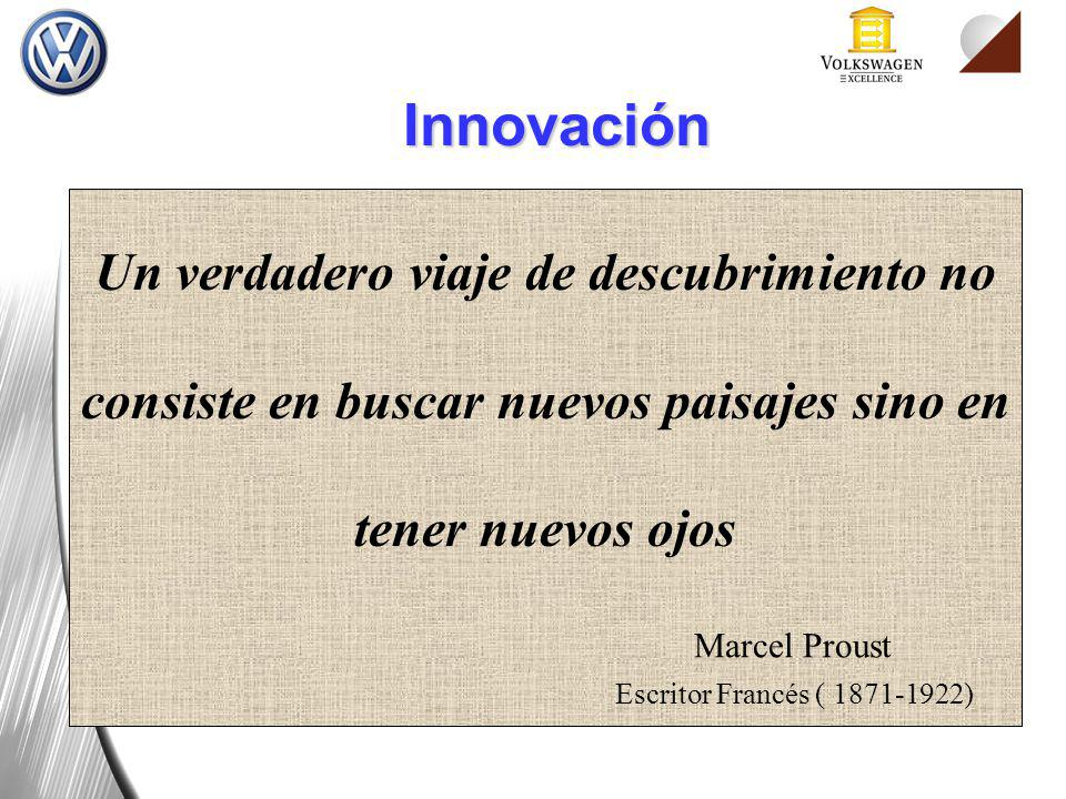 Un verdadero viaje de descubrimiento no consiste en buscar nuevos paisajes sino en tener nuevos ojos Marcel Proust Escritor Francés ( 1871-1922) Innov