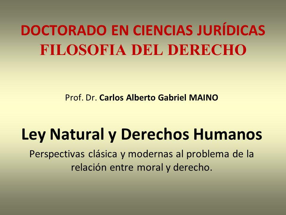 DOCTORADO EN CIENCIAS JURÍDICAS FILOSOFIA DEL DERECHO Prof.