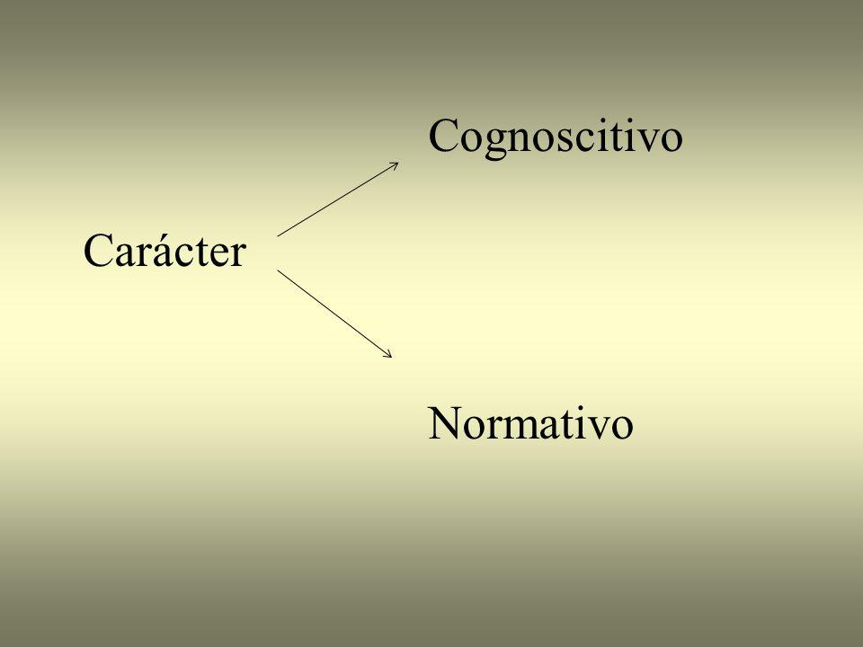 Cognoscitivo Carácter Normativo
