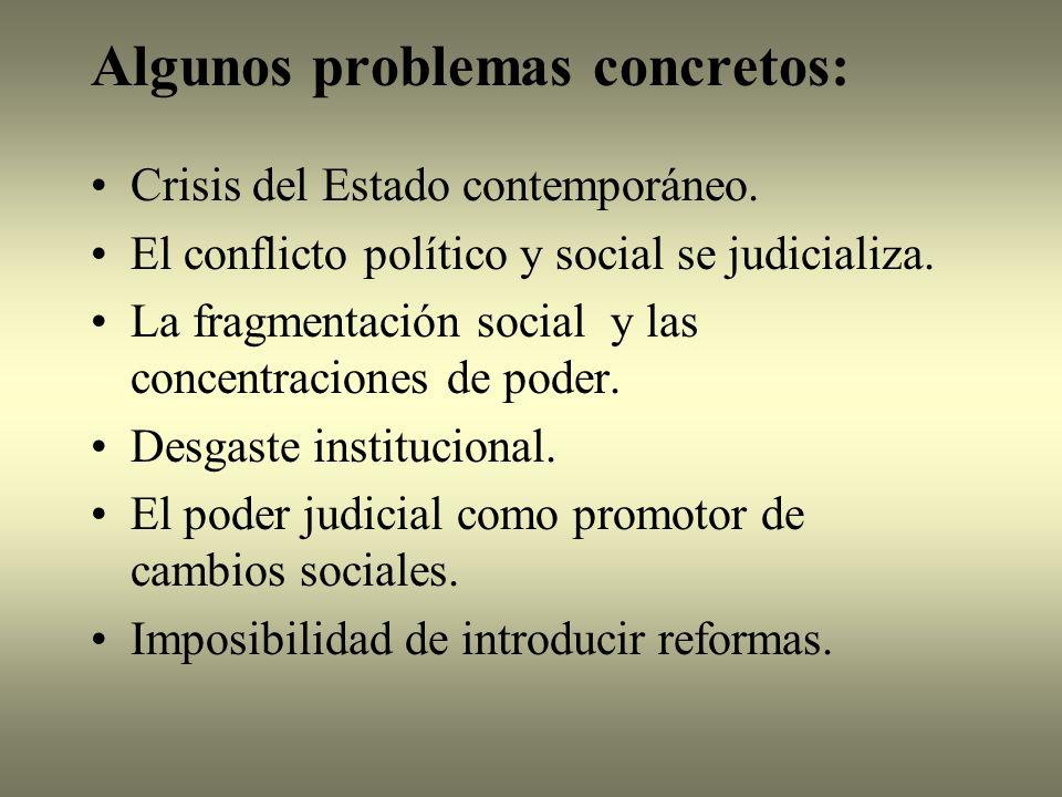 Algunos problemas concretos: Crisis del Estado contemporáneo.