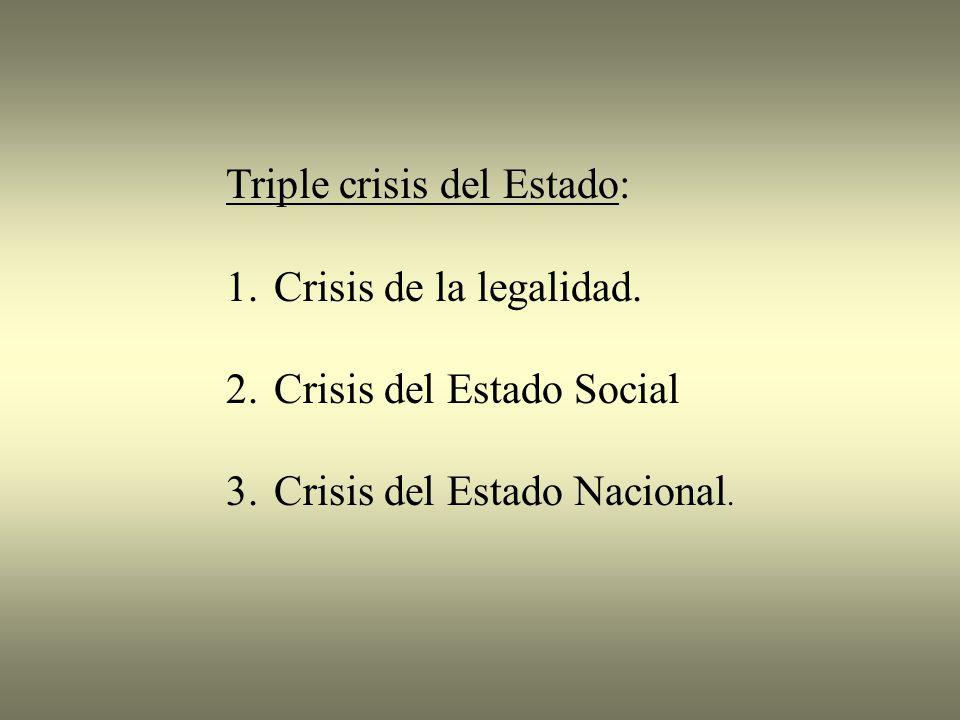 Triple crisis del Estado: 1.Crisis de la legalidad.