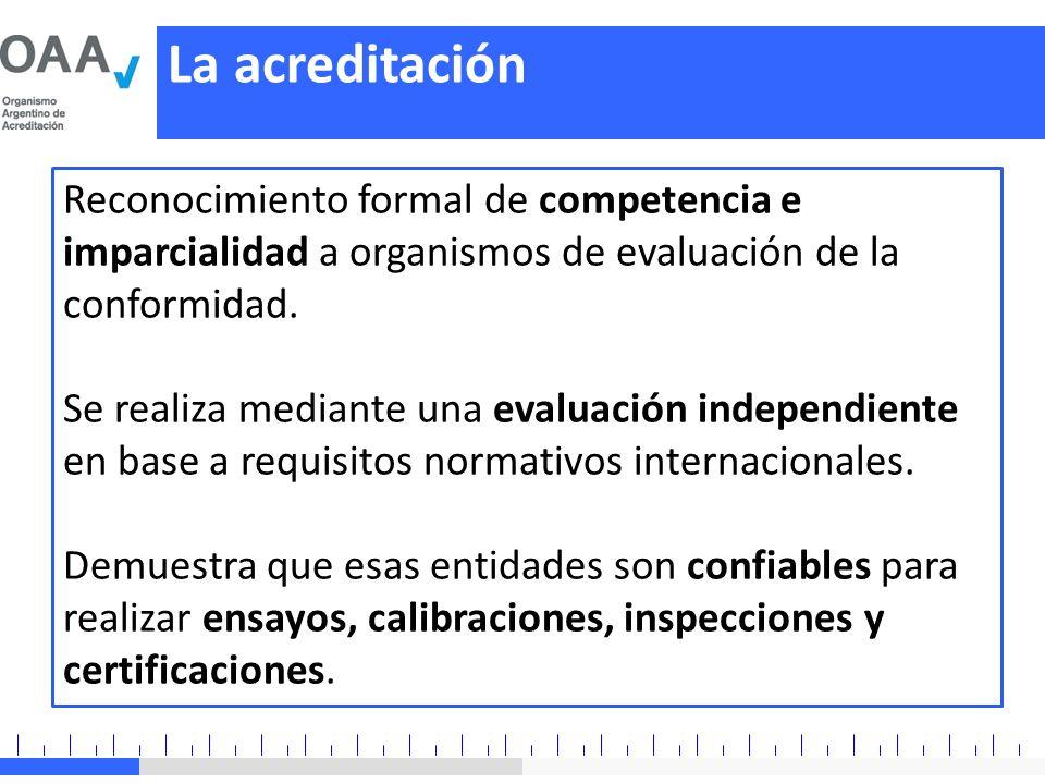 Reconocimiento formal de competencia e imparcialidad a organismos de evaluación de la conformidad. Se realiza mediante una evaluación independiente en