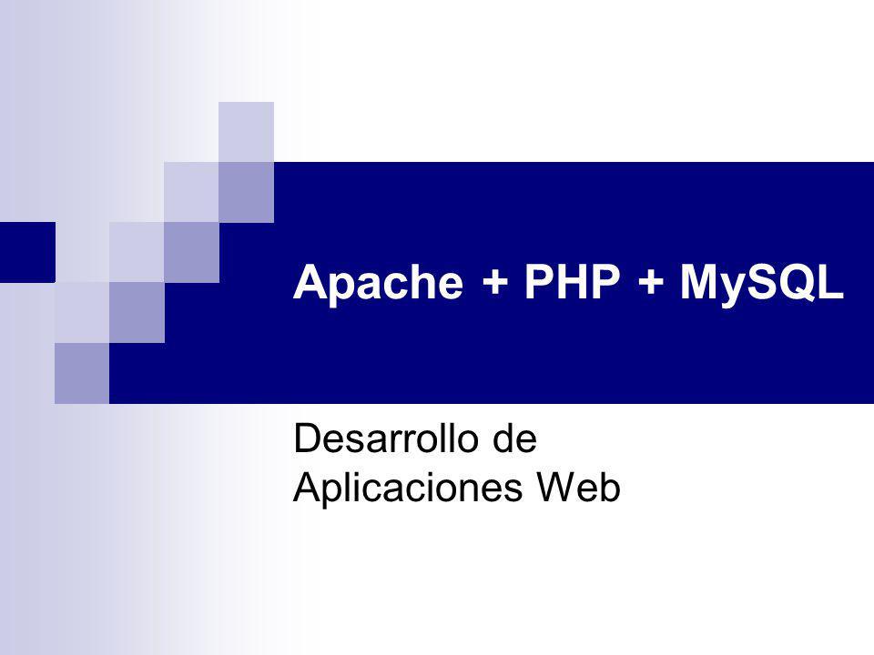 Apache + PHP + MySQL Desarrollo de Aplicaciones Web