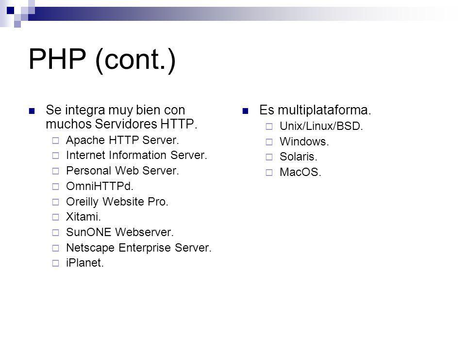 MySQL RDBMS de gran potencia y agilidad.Utilizado principalmente en entornos web.