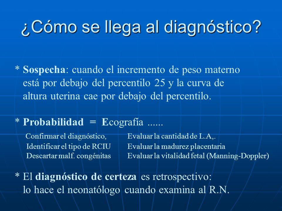 FACTOR DE RIESGO FREC. R.R. Antec. de RCIU anterior14 %1,5 Fumar (> de 10 x día)26 %1,6 Embarazo múltiple 1 %3 HTA inducida x el embarazo 7 %1,4 Preec