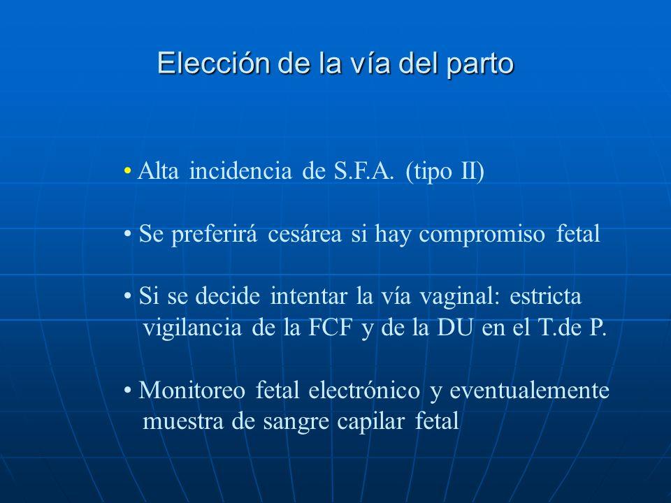 Elección del momento oportuno para el nacimiento La decisión debe tomarse cuidadosamente en base a Seguimiento estricto de la condición fetal I.U. Com